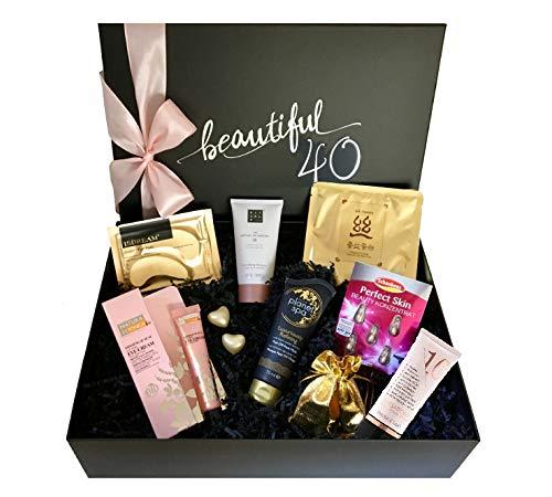 """birthday beauty box """"beautiful 40 - Gold & Caviar"""" - Luxus-Geschenkbox zum 40. Geburtstag für Frauen"""