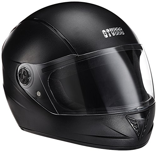 Studds Professional Helmet BK/BStrip (L - Head Size:58CM)