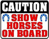 注意ショーボード上の馬ティンサイン壁鉄の絵レトロなプラークヴィンテージ金属板装飾ポスターおかしいポスターバーガレージカフェホームの工芸品をぶら下げ