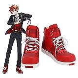 Twisted Wonderland Ace Trappola zapatos Pu botas adulto Halloween carnaval fiesta Cosplay disfraz accesorio 45 tamaño masculino