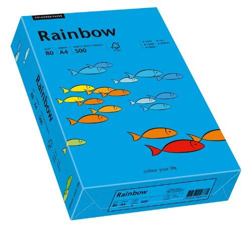 Papyrus 88042761 Drucker-/Kopierpapier farbig, Bastelpapier: Rainbow 80 g/m², A4 500 Blatt Buntpapier, Matt, intensivblau
