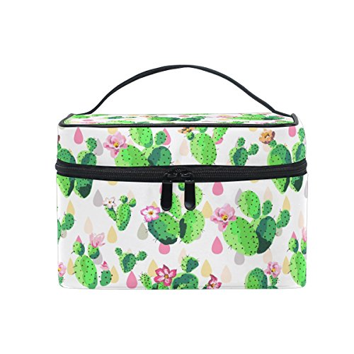 Makeup Bag Fresh Cactus Travel Cosmetic Bags Organizer Train Case Toiletry Make Up Pouch