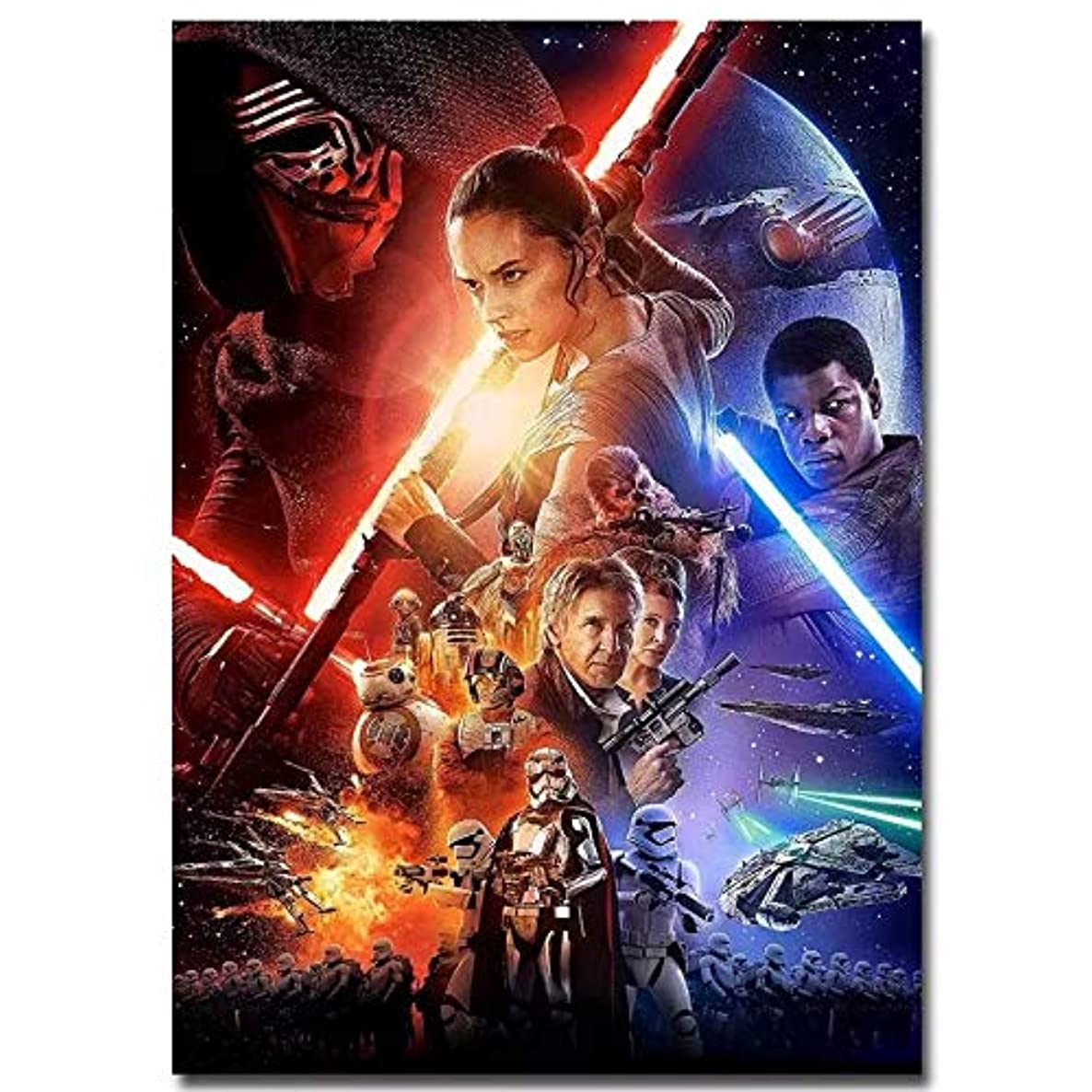 Star Wars Poster Full Drill Diamond Painting 5D DIY Diamond Embroidery Cross Stitch Crystal Rhinestone Art Craft Movie Pictures Mosaic Painting Home Wall Decoration (30X40CM)