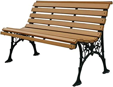 Household Products Park anticorrosive Plastic Wood Benches, Terrace Chairs, Balcony Benches with backrest armrests, cast Iron