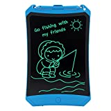 HUIXIANG Schreibtafel LCD Writing Tablet 8,5 Zoll mit Schloss Bunte Elektronischer Notizblock Schreiben Tablette Digitaler Drawing Pad Grafiktablet Kinder Junge Mädchen (Blau) -