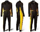 Speed Kart Mono Negro/Amarillo–Denver HS de 2Modelo 2018Racewear, Tiempo libre, color negro y amarillo, tamaño 140 Kindergröße
