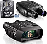 Night Vision and Day Binoculars for Hunting in 100% Darkness - Digital Infrared Goggles Military for Viewing 984ft/300M in Dark with 2.4' LCD Screen, Take Day Night IR Photos Video 32G TF Card Adults