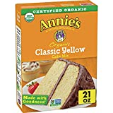 Annie's Organic Cake Baking Mix, Yellow, 21 Ounce (Pack of 8)
