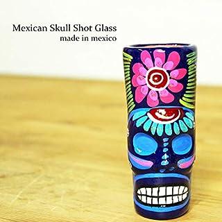 RUG&PIECE Mexican skull メキシカンスカル ショットグラス メキシコ製 (int-2130)