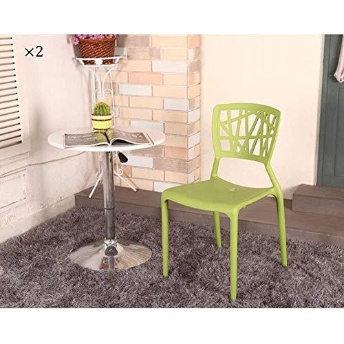 LJ Chaise empilable à manger Chaise latérale Dossier en plastique Siège adulte Bureau/Maison/Jardin/Fête/Réception/Salon , Pack-2,5