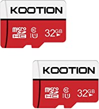KOOTION 32 GB Micro SD Card Ultra Micro SDHC Memory UHS-I Card Class 10 High Speed TF Card R Flash, C10, U1, 32 GB (2 Pack)
