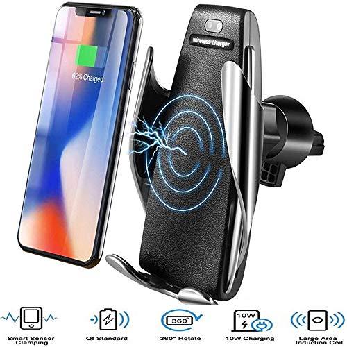 Jollini compatibel met Samsung Galaxy S9/A6 2018/A8 2018, draadloze oplader, automatische spanning, Qi-inductie, intelligente sensor, 10 W, snellader.