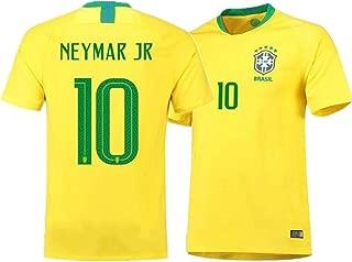 Brazil Neymar Jr #10 Brazil National Team Soccer Jersey Men's Russia World Cup Home Yellow Adult Size