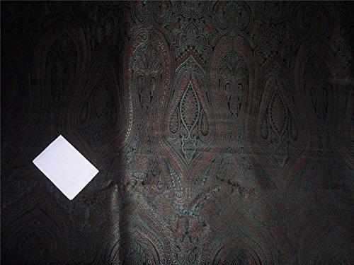 Brokat Grün Maroon und Metallgewebe Kupfer Farbe 111,8cm bro550[3]