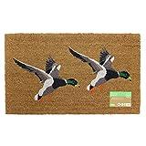 JVL–país de Animales con diseño de Puerta de Entrada Mat-Duck, 45x 75cm, Fibra de Coco y látex, marrón, 45x 75x 1,5cm
