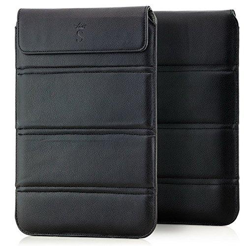 Saxonia Tablet Tasche Hülle faltbar im Hochformat, Schutztasche Universal für Tablet oder Dokumente von 9 bis 10 Zoll Schwarz