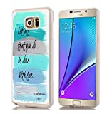 Note 5 Case Christian/IWONE Designer Rubber Compatible Cover Shockproof Replacement for Samsung Galaxy Note 5 + Bible Verse Christian Quotes let All That You do be Done with Love 1 Corinthians