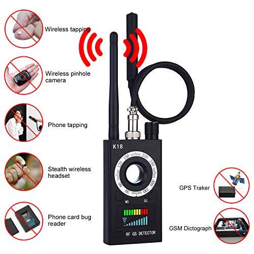 Hidden Camera Detectors-Anti Spy RF Detector Wireless Bug Detector Signal for Hidden Camera Laser Lens GSM Listening Device Finder Radar Radio Scanner...