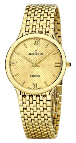 Candino Men'- Armbanduhr Analog Quarz Edelstahl Gold Armband C4363/3