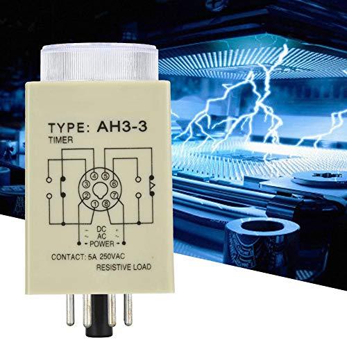 Tijdrelais, 6S 8-pins vertragingstimer DIN-railmethode voor mechanische apparaten Tijdschakelaar voor industrieel automatiseringssysteem (AC220V)