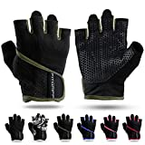 Fitgriff Trainingshandschuhe für Damen und Herren - Fitness Handschuhe ohne Handgelenkstütze für Krafttraining, Bodybuilding, Kraftsport & Crossfit Training - Gym Workout Gloves