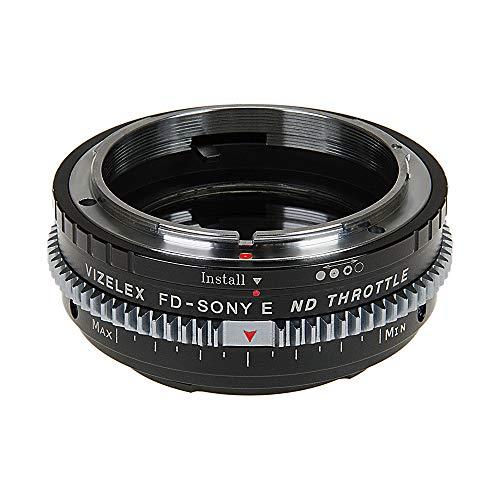 Vizelex CINE ND smoorlens-adapter, compatibel met Canon FD en FL 35 mm film-lenzen op Sony E-mount camera's, van Fotodiox Pro