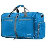Gonex 80L Borsa da Viaggio Borsoni Pieghevole Impermeabile per Viaggio Sport Palestra Campeggio Bagaglio a Mano Tracolla con Grande Capacità di 80 Litri (Azzurro)