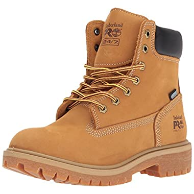 Timberland PRO Women's Direct Attach 6  Steel Toe Waterproof Insulated Industrial and Construction Shoe, Wheat Nubuck Leather, 7 M US