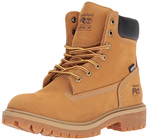 "Timberland PRO Women's Direct Attach 6"" Steel Toe Waterproof Insulated Industrial & Construction Shoe, Wheat Nubuck Leather, 7.5 M US"