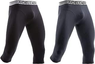 Men's Thermal Underwear Bottom Base Layer 3/4 Leggings Running Tight Long Johns