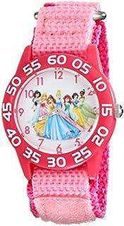 Disney Kids' W001990 Princess Time Teacher Watch With Pink Nylon Band
