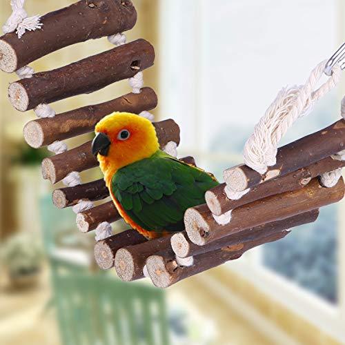 UEETEK Grassottelle Escalier en corde d'oiseau Jouet Pont Flexible Swing Escalier pour Perroquet Animaux Trainning