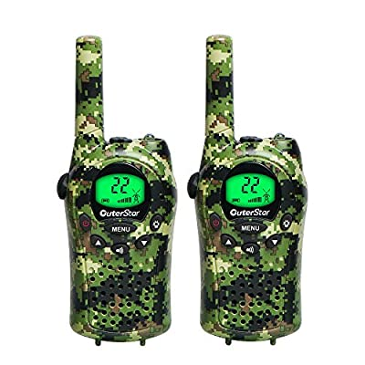 OuterStar Durable Walkie Talkies for Kids,22 Channel FRS/GMRS 5 Miles Long Range Two Way Radios with 2 Free Straps£¬Back-lit LCD Screen/Handheld for Kids/Families Toys, Games, Gifts