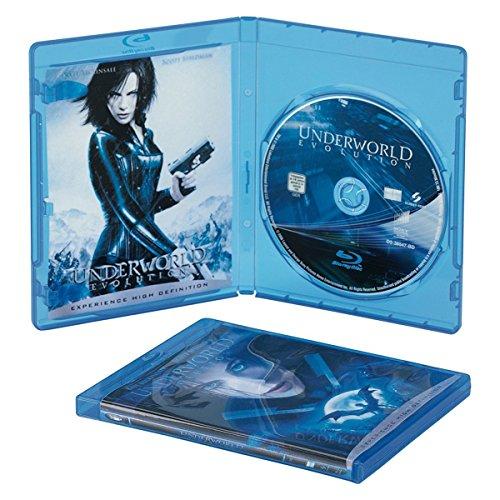 Blu-ray Disc-Leerhülle - Kapazität: 1 Blu-ray Disc-Leerhülle - durchsichtig blau (Packung mit 5 )