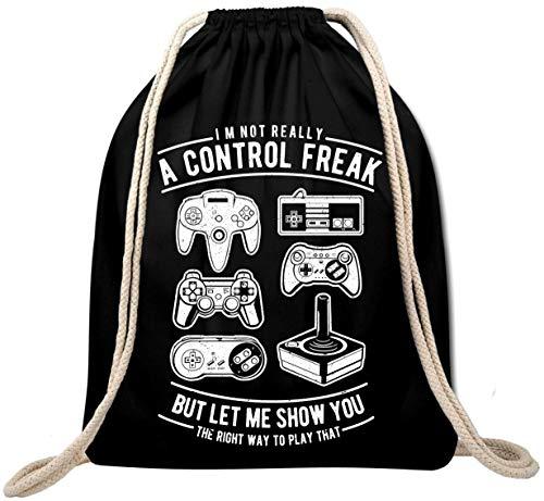 Ekate A Control Freak Retro Vintage Gamer Mochila Gym Bag Backpack