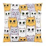 TupTam Kinder Kissenbezug Dekorativ Gemustert, Farbe: Bunte Katzen, Größe: 40 x 60 cm