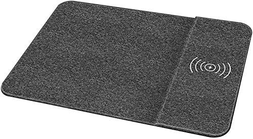 Gymqian Cojín de Ratón de Carga Inalámbrica, Carga Rápida Adecuada para Samsung Path Pattern 10W Cargador Inalámbrico de Carga Rápida Carga directa inalámbrica