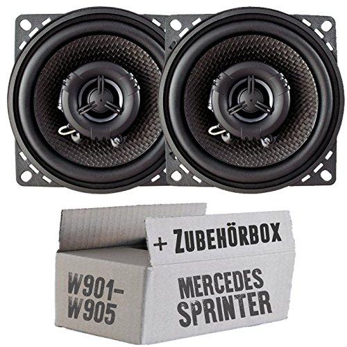 Ampire CP100-10cm Lautsprecher 2-Wege Koaxialsystem - Einbauset für Mercedes Sprinter Front - JUST Sound Best Choice for caraudio
