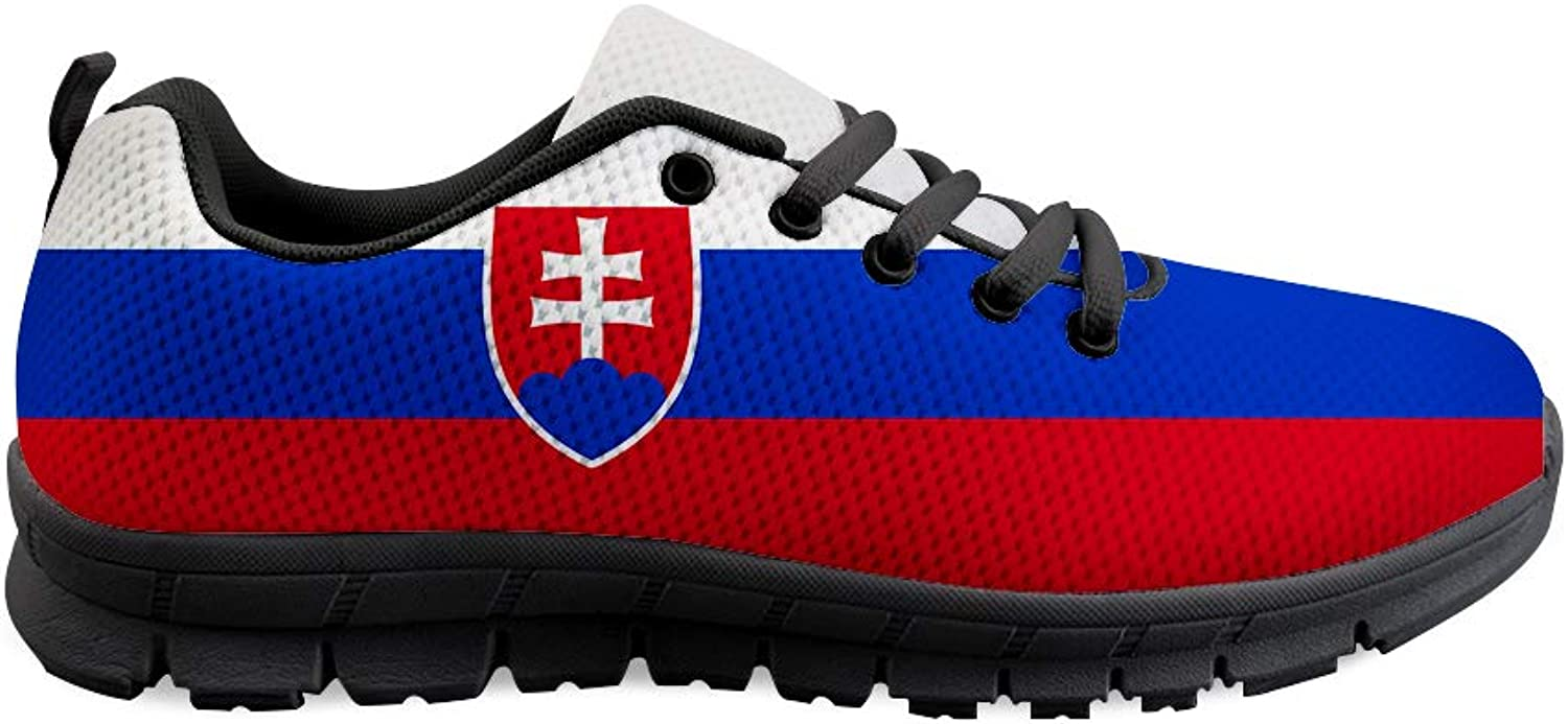 Owaheson Lace-up Sneaker Training shoes Mens Womens Slovakia Flag