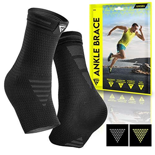 Langov Ankle Brace Support for Men & Women (Pair), Best Compression...