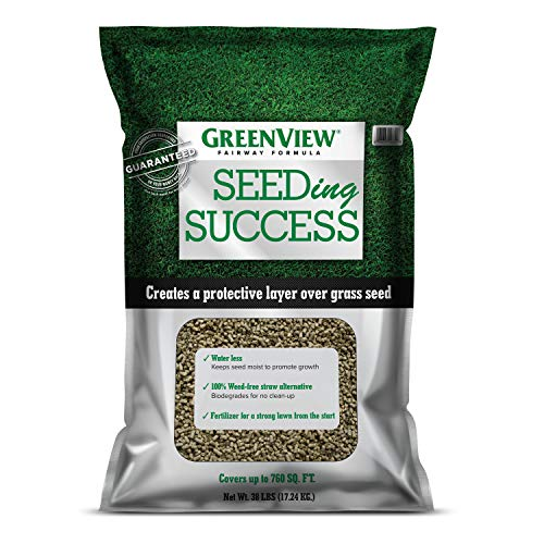 GreenView Fairway Formula Seeding Success (2329835) Biodegradable Mulch with Fertilizer - 38 lb. - Covers 760 sq. ft.
