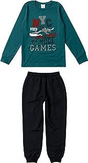Conjunto Infantil Masculino Malwee Kids Camiseta e Calça Moletom