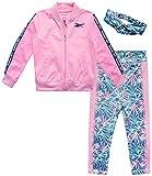 Reebok Baby Girls' Playwear Set ? Zip Up Jacket, Leggings, and Headband Set (Infant/Toddler), Size 3-6 Months, Begonia/Pink/Floral