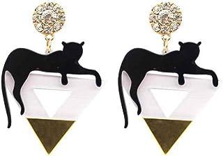 CutieJewelry Womens Cat Retro Style Vintage Black Cat Earrings