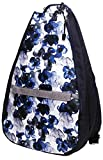 Glove It Tennis Backpack for Women, Lightweight Ladies Tennis Bag & Sling Backpack for 2 Racquets, Balls, Water Bottle, Indigo Poppy