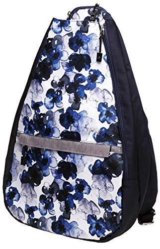 Glove It Tennis Backpack Indigo Poppy - 20' x 12' x 7' Tennis Racket Bag w/ 5 Compartments,Tennis Racket Backpack, Tennis Bag, ONE Size