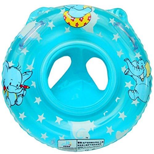 Newin Star Flotador de natación,Anillo de natación,Nadar Anillo para niños y bebé con Dibujo Elefante Asiento Inflable de Piscina Color Aleatorio(Azul)