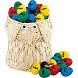 Nino Percussion VE80-NINO540 Egg Shaker Collection in Elephant Basket Eighty Pieces