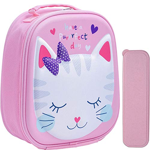 Insulated Kids Lunch Bag for Girls, Portable Kids Lunch Box Bag, Reusable...