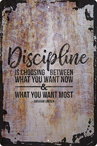Discipline is choosing between… Abraham Lincoln quote president Decorative Wall Decor Funny Gift